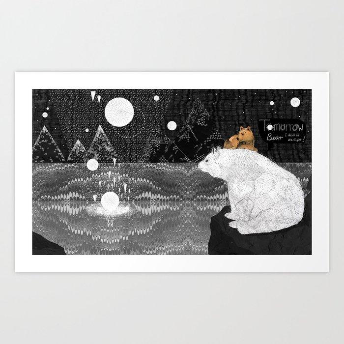 Tomorrow Bear Art Print