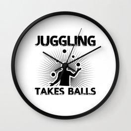 Juggling Hobby | Juggler Circus Gift Ideas Wall Clock