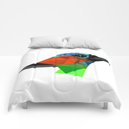 Bird art Saira Nature Animals Geometric Comforters