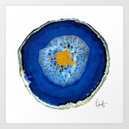 Agate Blue  Art Print