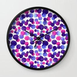 Brighr watercolor circles Wall Clock