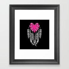Bejeweled Heart Framed Art Print