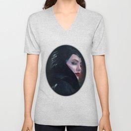 Maleficent in Oil / Sleeping Beauty Unisex V-Neck