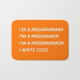 I write code Bath Mat