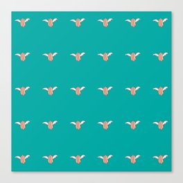 Dogs fly by night Canvas Print