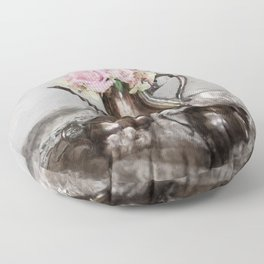 Antique Tea Pot Floor Pillow