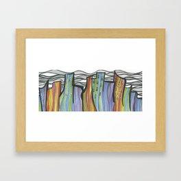 Dancing City Framed Art Print