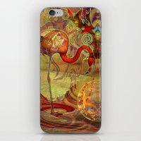 flamingos iPhone & iPod Skins featuring Flamingos by Waelad Akadan