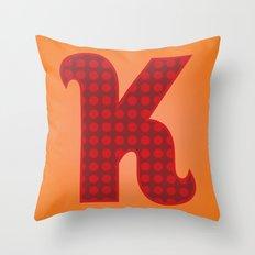 Alphabet K Throw Pillow