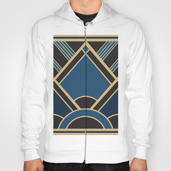 Art Deco New Tomorrow In Blue Hoody