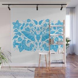 Beetle Bloom Blue Wall Mural