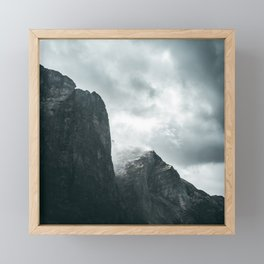 Norway Photography - Mountains Under Gray Clouds Framed Mini Art Print