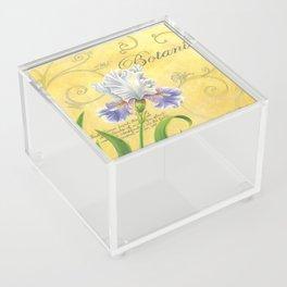 Purple and White Iris Acrylic Box