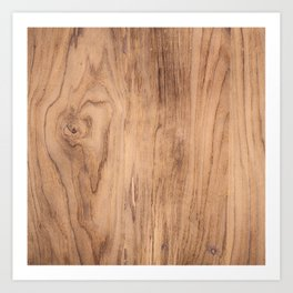 Brown wood pattern Art Print