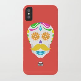 Mouscacho Skull 2 iPhone Case