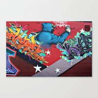 graffiti Canvas Prints featuring graffiti by mark ashkenazi
