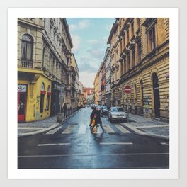 Crosswalk in Europe  Art Print