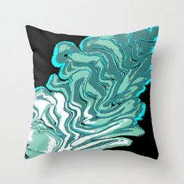 Ripples with Black Background 02 Throw Pillow