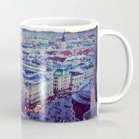 vienna Mugs featuring Vienna by SandraHuezo