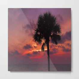Romantic Breezy Sunset Metal Print