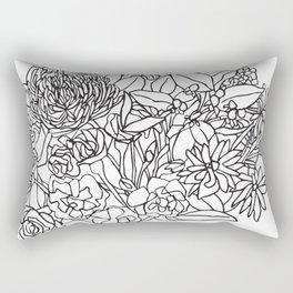 Flower Bouquet_2BW Rectangular Pillow
