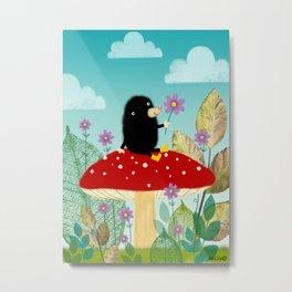 Little Mole Metal Print