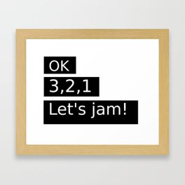 Let's Jam! Framed Art Print