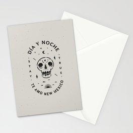 """Te Amo New Mexico"" sugar skull badge (day) Stationery Cards"