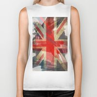 union jack Biker Tanks featuring Union Jack by Honeydripp Designs