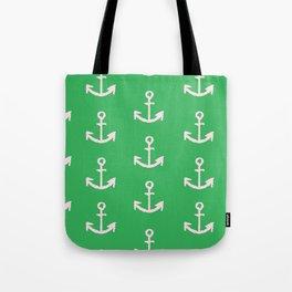Anchors - Green Tote Bag