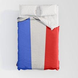 Flag of France III- France, Français,française, French,romantic,love,gastronomy Duvet Cover