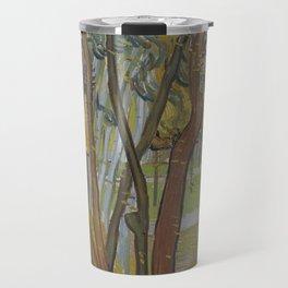 Vincent van Gogh - The Garden of Saint Paul's Hospital ('Leaf-Fall') (1889) Travel Mug