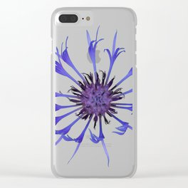 Thin blue flames in a sea of green Clear iPhone Case