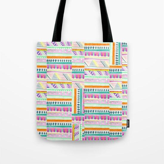 multicoloured AZTEC + Tote Bag