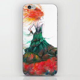Lady Fire  iPhone Skin