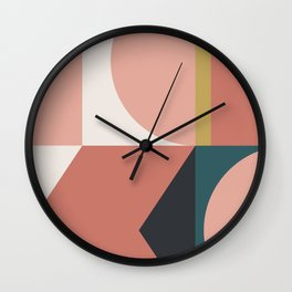 Maximalist Geometric 02 Wall Clock