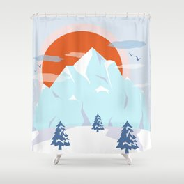 Winter breeze in Alpes Shower Curtain
