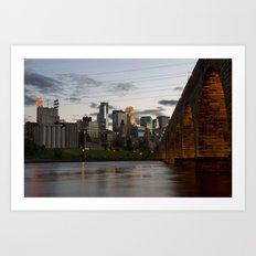 Minneapolis Skyline - Stone Arch View Art Print