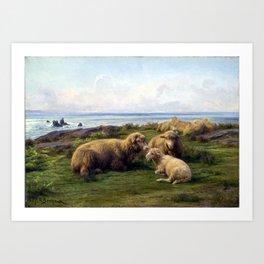 Rosa Bonheur Sheep by the Sea Art Print
