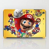 super mario iPad Cases featuring super mario  , super mario  games, super mario  blanket, super mario  duvet cover, super mario  show by ira gora