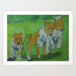 Smooth Collies (Sable) Art Print