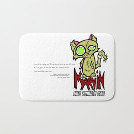 Marvin the Zombie Cat Bath Mat