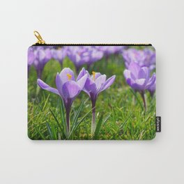 Purple Crocuses Carry-All Pouch