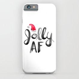 Jolly AF – Black Typography iPhone Case