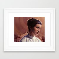 leia Framed Art Prints featuring Leia by Jackie Sullivan