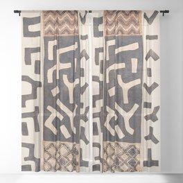 Kuba Congo Central African Wraparound Skirt Print 2 Sheer Curtain