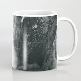 Bridalveil Falls. Yosemite California in Black and White Coffee Mug