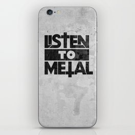 Listen to Metal iPhone Skin
