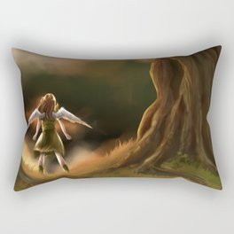 Under the Great Old Tree Rectangular Pillow