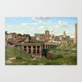 Christoffer Wilhelm Eckersberg View of the Cloaca Maxima, Rome Canvas Print